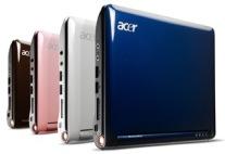 Acer Aspire One. Bilete henta frå http://www.acer.no/