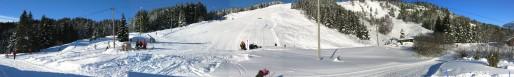 Vinter-Leikanger-003 Slalombakken nedanfra vid