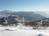 Vinter-Leikanger-058 Kallbakk mot Mjellhaugane og Skriki