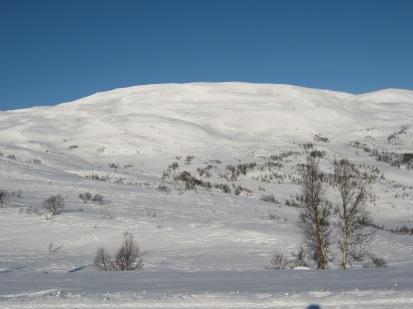 Vinter-Leikanger-062 Kallbakk mot Fagreggi og heimsta Kjeringi