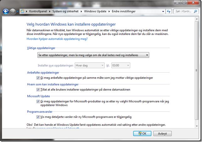 windows update bare se