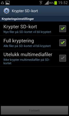 kryptere sd-kort
